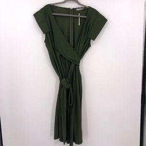 NEW ASOS Maternity Textured Wrap Midi Dress 16